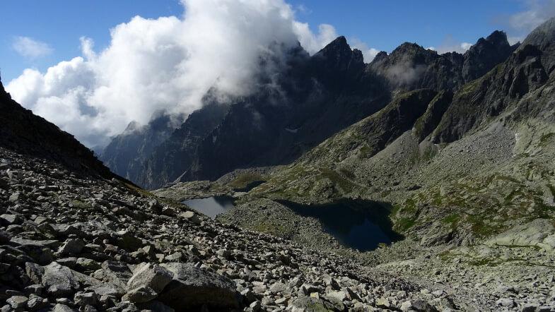 Chmury na Pośredniej Grani