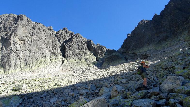 Podejście na Baranią Przełęcz