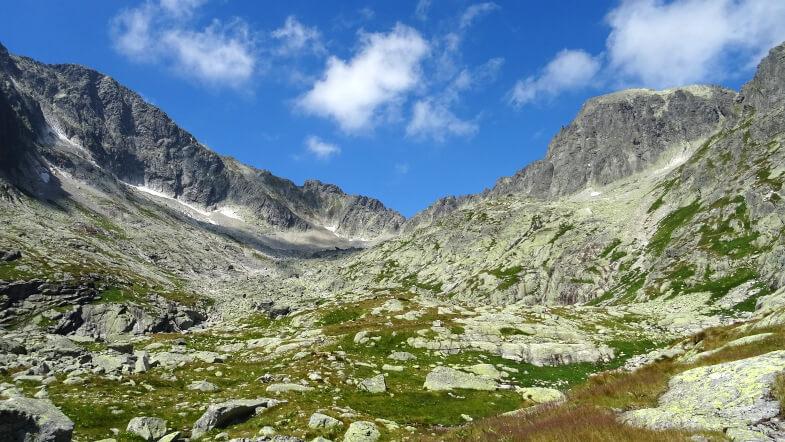 Lodowy Szczyt, Śnieżny Szczyt z przełęczą i Baranie Rogi