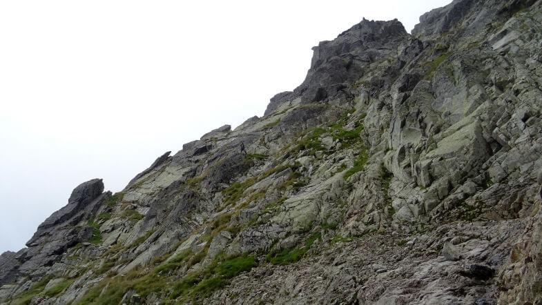 Asia schodzi terenem skalno-trawiastym