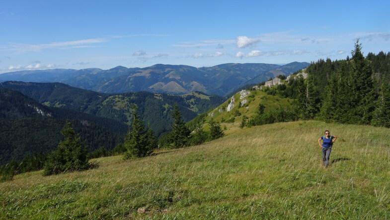 Podejście z Upłazów na przełęcz